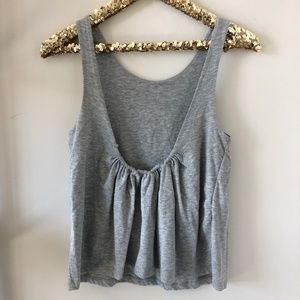 H&M Grey Low Scoop Back Tank